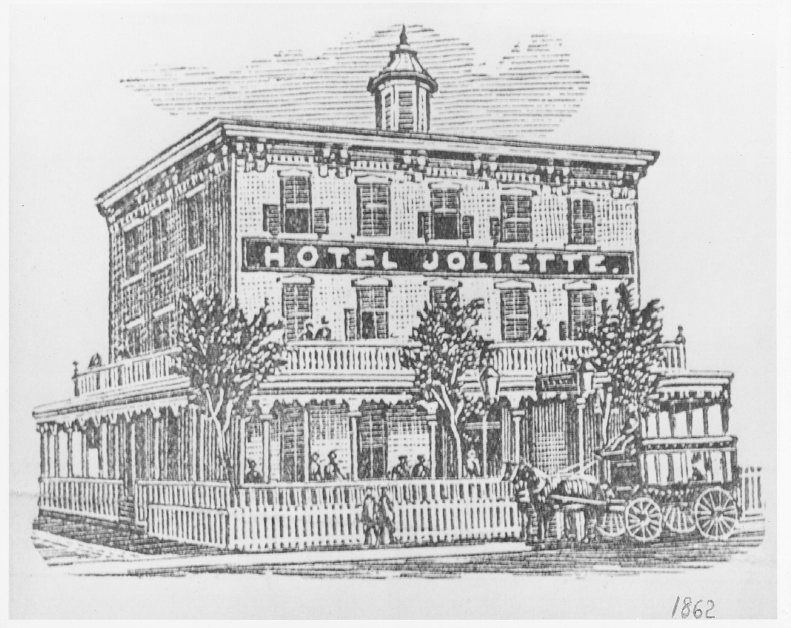 Illustration de l'Hôtel Joliette en 1862